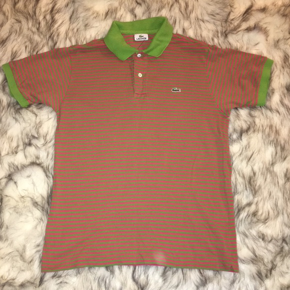 Lacoste Other - Vintage Lacoste pink and green polo